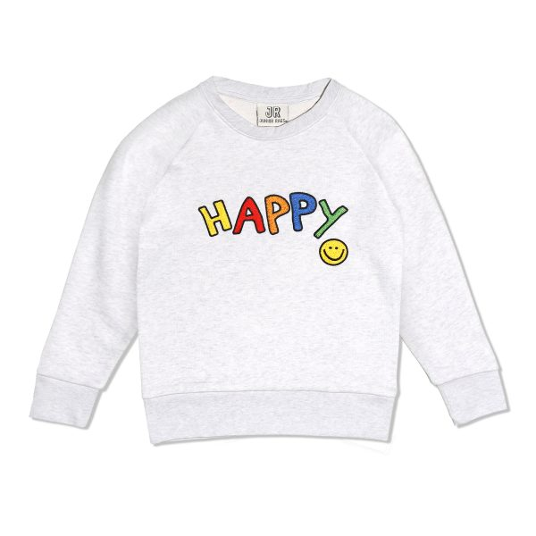 Junior Rags Happy embroidered sweater