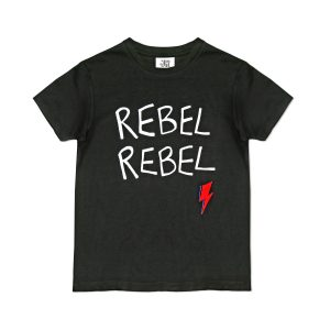 Junior Rags Rebel Rebel Bowie black t-shirt