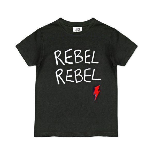 Junior Rags Rebel Rebel Bowie black t-shirt