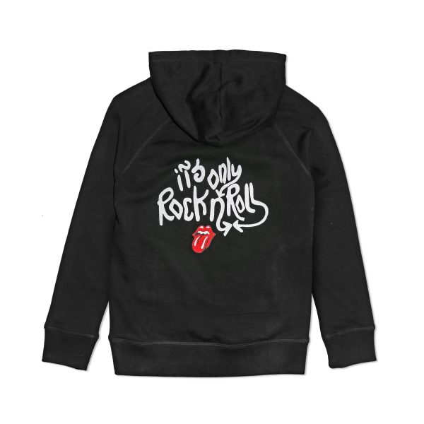 JUNIOR RAGS X THE ROLLING STONES CHILDRENS ORGANIC COTTON EMBROIDERED HOODIE SWEATSHIRT
