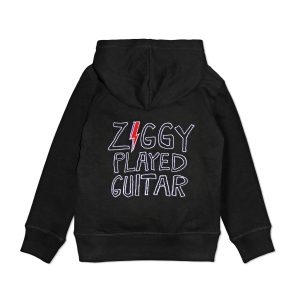 David Bowie Ziggy Played Guitar children's embroidered hoodie
