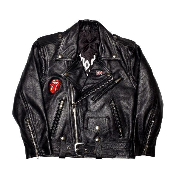Junior Rags x The Rolling Stones real leather embroidered jacket it's only Rock n Roll