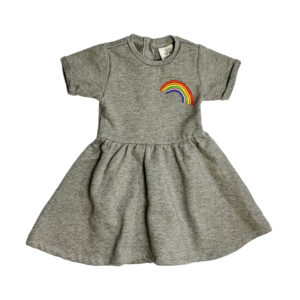 junior rags embroidered rainbow dress