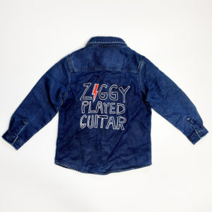 Junior Rags David Bowie Ziggy Played Guitar indigo shirt-jacket