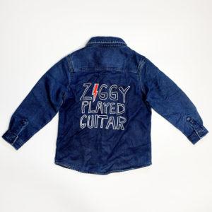 Junior Rags David Bowie Ziggy Played Guitar indigo shirt-jacket