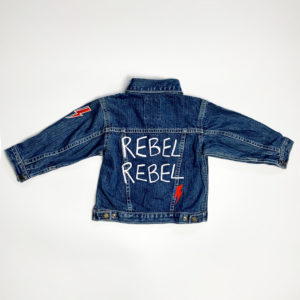 Junior Rags David Bowie Ziggy Played Guitar vintage denim jacket