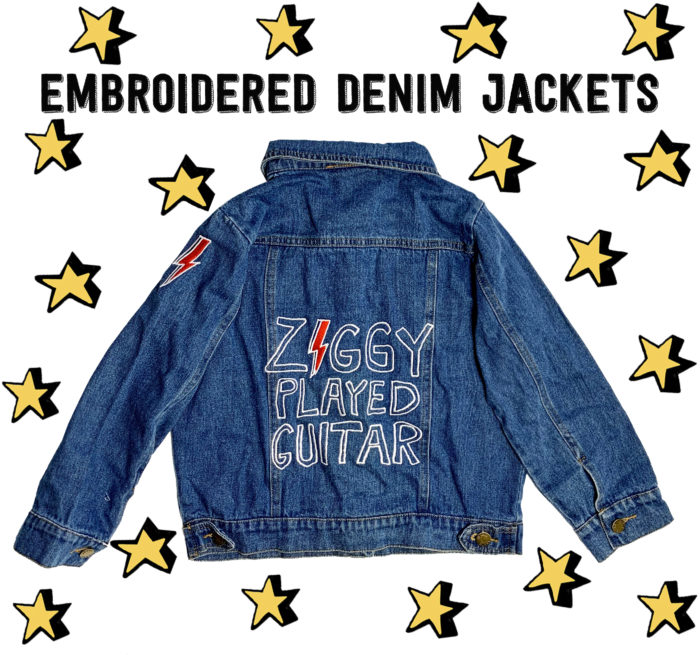 Junior Rags embroidered david bowie denim jacket